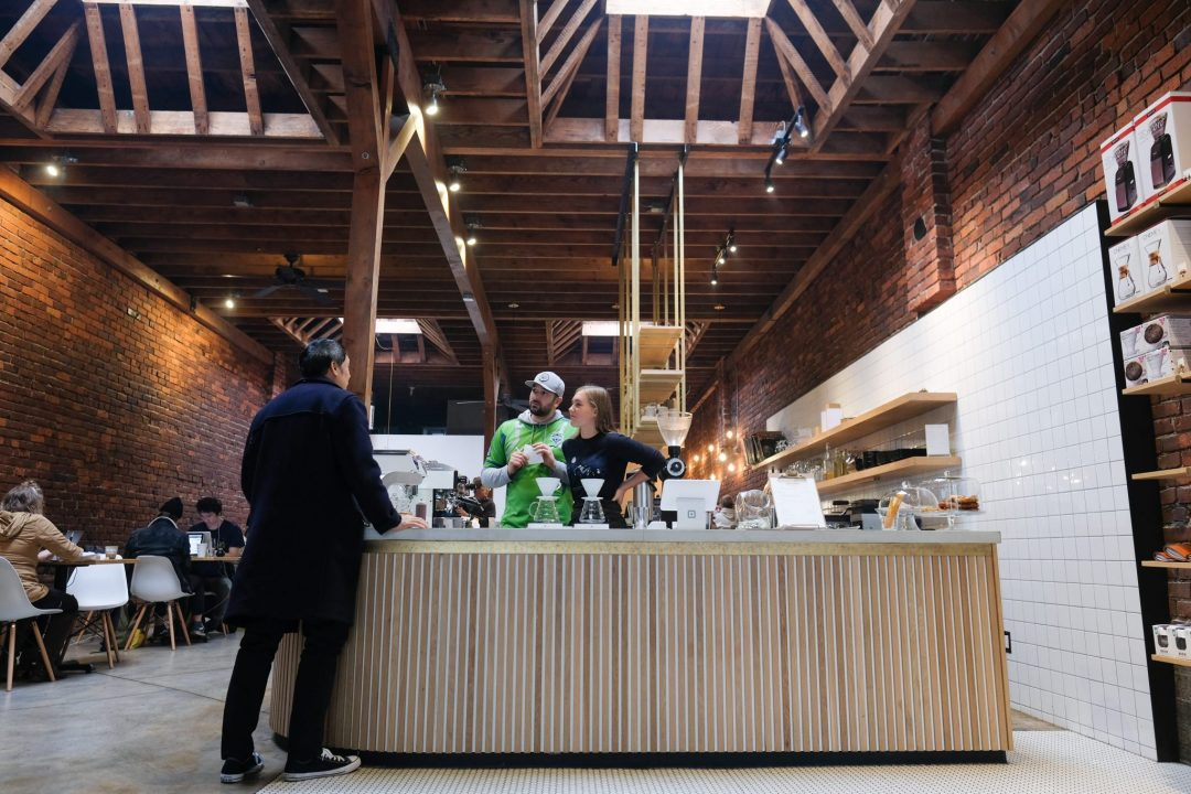 interior of Narrative Coffee
