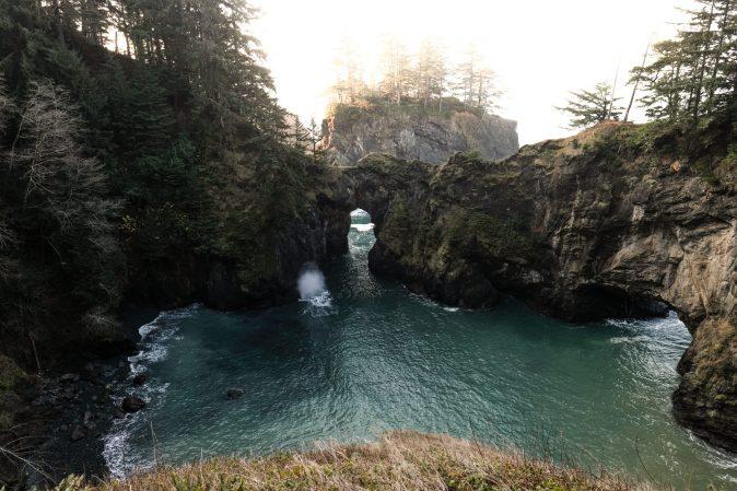 the Oregon coast.