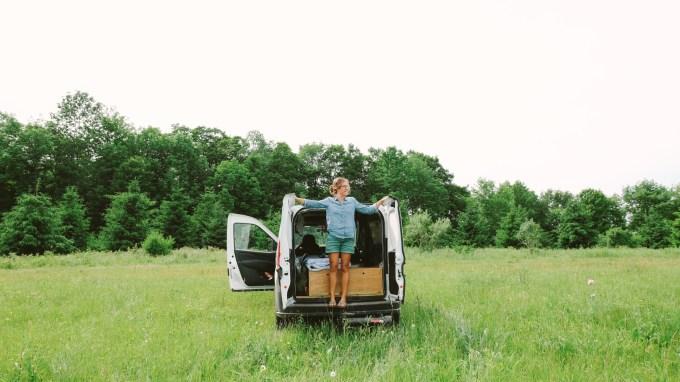 Caroline Whatley in the Wayfarer Van