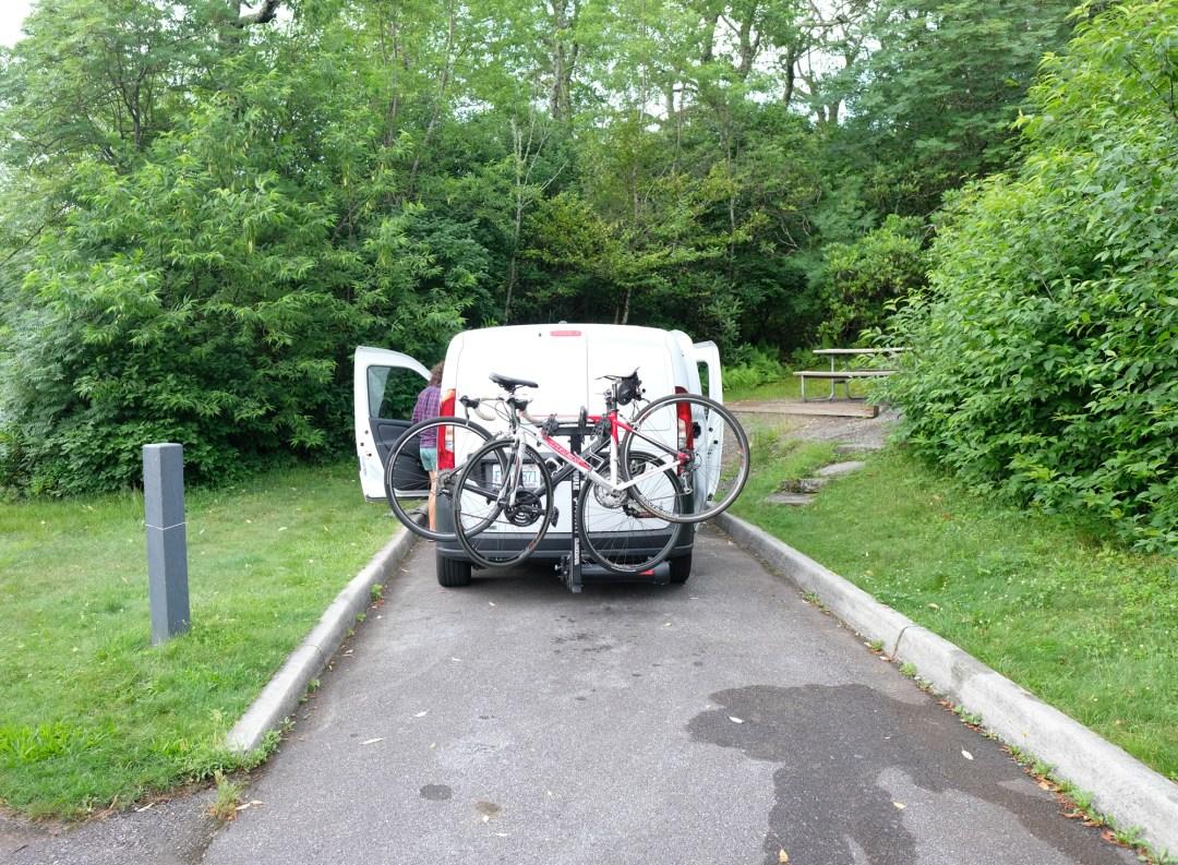 Van Life Bike Rack Pivot System