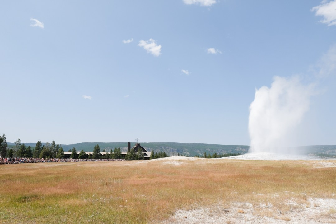 Old Faithful erupts!