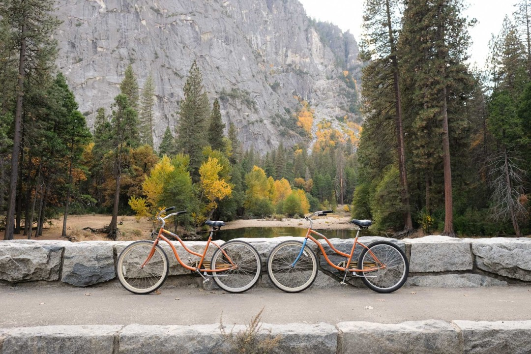 Travel by bike in Yosemite National Park