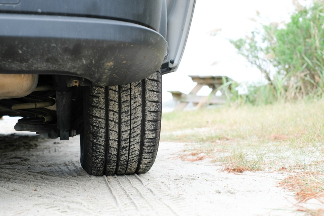 photo of the tires on the Ram Promaster City