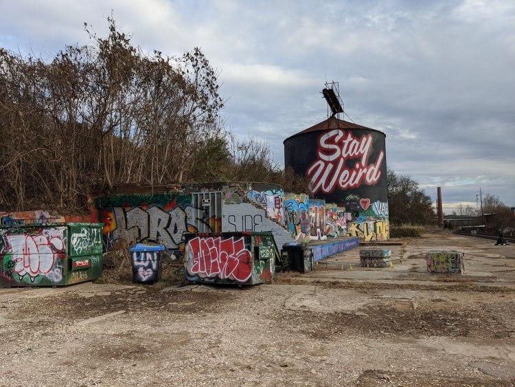 Best Instagram Spots in Asheville: the Stay Weird silo