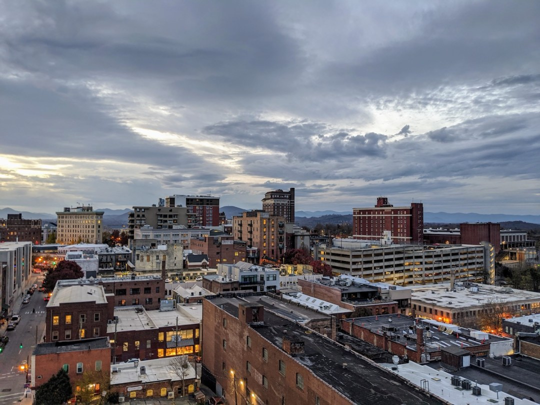 Rooftop view: Best Instagram Spots in Asheville
