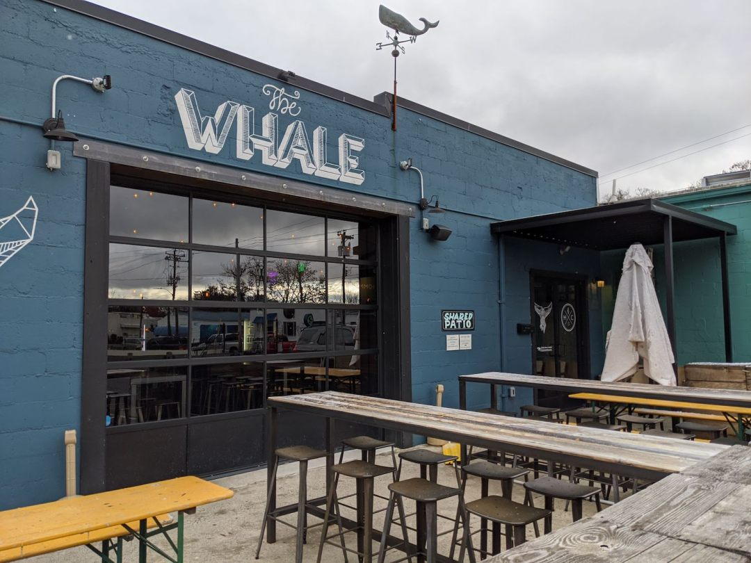 a photo of the Whale, one of the best outdoor bars in Asheville