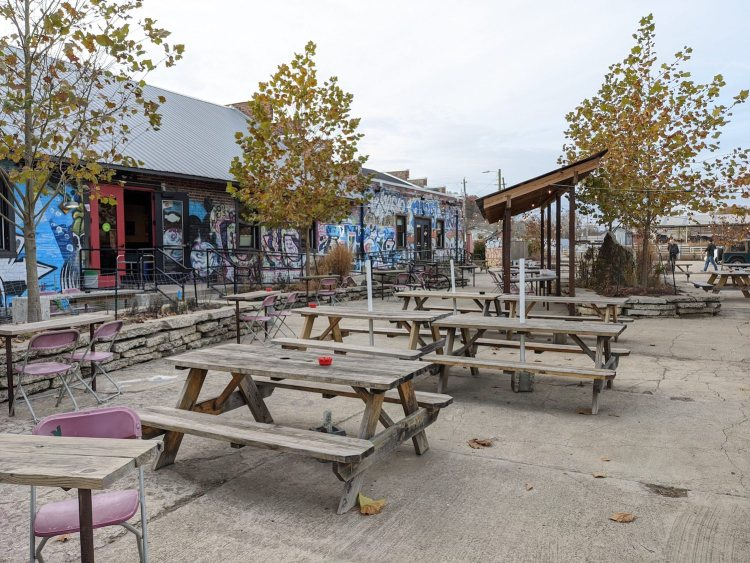photo of The Wedge at Foundation, one of the best outdoor breweries in Asheville, North Carolina