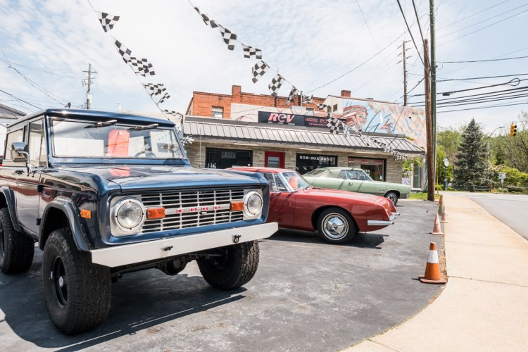 photo of vintage cars at Rare Exotic Vehicles, one of the best things to do in Weaverville, NC.