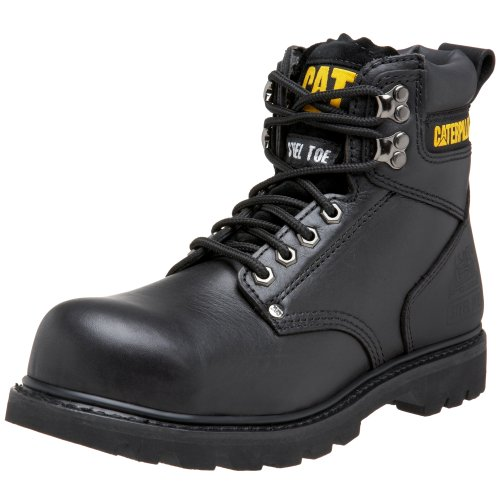 Caterpillar Men's 2nd Shift 6″ Steel Toe Boot,Black,9.5 M US
