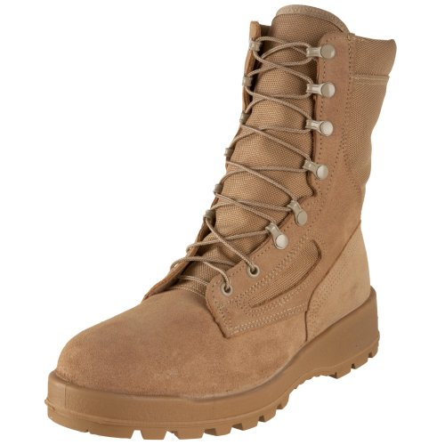 Wellco Men's T114 Temperate Weather Waterproof Combat Boot,Desert Tan,7.5 M US