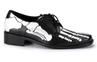 Funtasma by Pleaser Men's Xray-02 skeleton costume shoes,Black Pu,14 M US