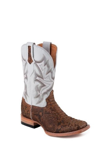 Stetson Men's Python Cowboy Boot Wide Square Toe