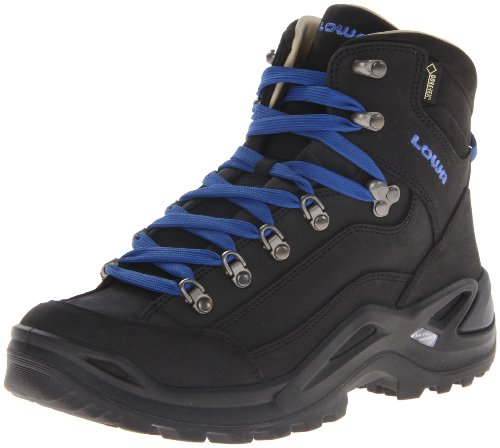 Lowa Men's Renegade Pro Goretex Mid Hiking Boot,Black/Cobalt,11 M US