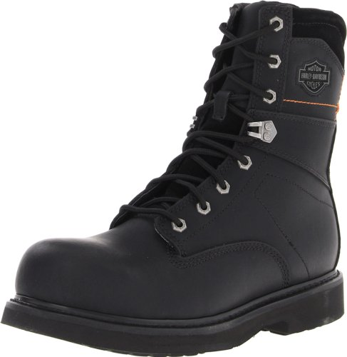 Harley-Davidson Men's John Steel Toe Motorcycle Safety Boot, Black, 9 M US