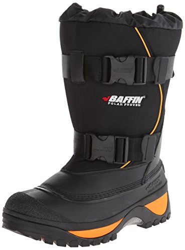 Baffin Men's Wolf Snow Boot,Black/Expedition Gold,11 M US