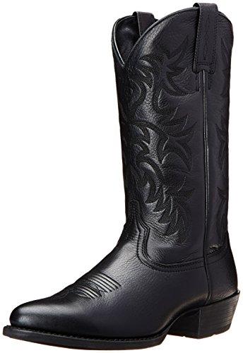 Ariat Men's Heritage Western R Toe Western Boot,  Black Deer Tan,  11.5 B US
