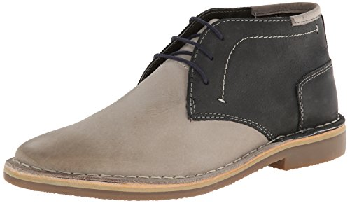 Steve Madden Men's Harsen Chukka Boot, Grey/Multi, 10 M US