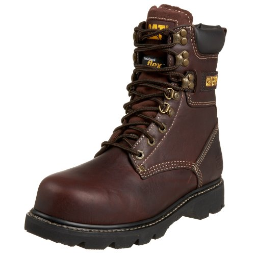 Caterpillar Men's Indiana 8″ Steel Toe Boot,Brown,10 M US