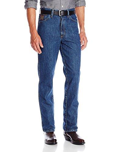 Cinch Men's Bronze Label Original Rise Slim Fit Boot Cut Jean, Dark Stonewash, 32×36