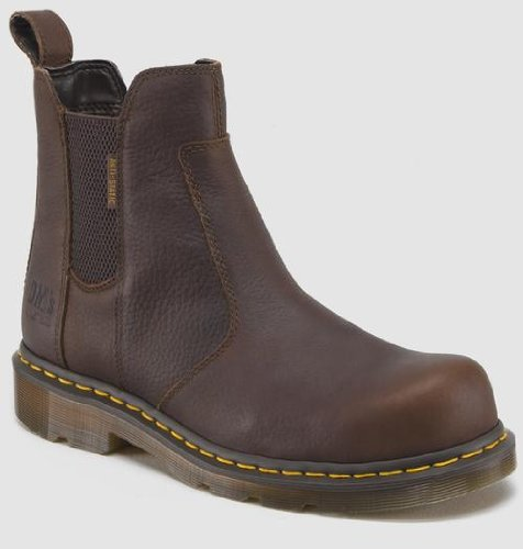 Dr. Martens Men's Fusion Safety Toe Chelsea Boot,Bark,13 UK/14 M US