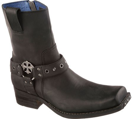 Mark Nason Dragon Collection Men's Finley Harness Boot,Black Leather,10.5 M US