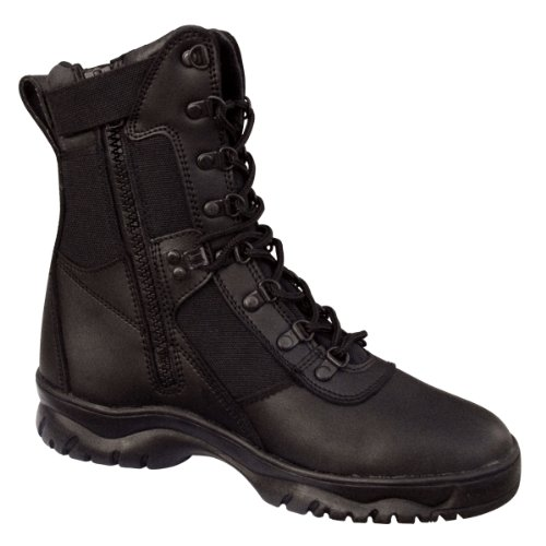 "Rothco 8"" Forced Entry Side Zip Tact Boot, Black, 11"