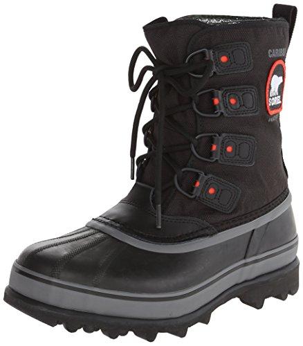 Sorel Men's Caribou Extreme Snow Boot,Black/Shale,10.5 M US
