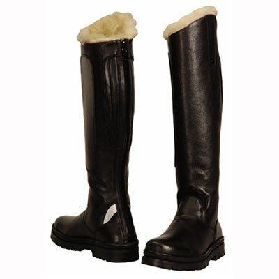 TuffRider Women's Tundra Fleece Lined Tall Boots in Synthetic Leather, Black, 6 Wide