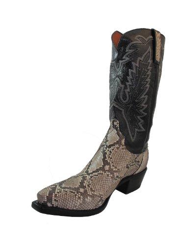 Lucchese 1883 Men's Cowboy Boots N7917.54 Bel Paython/Black Goat