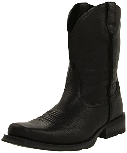 Ariat Men's Rambler Wide Square Toe Western Boot, Black Deertan, 10 M US