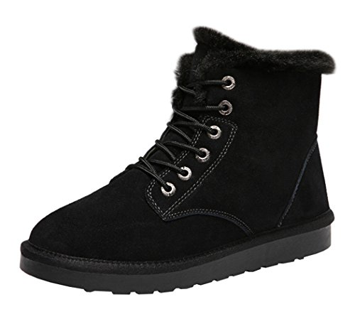 Rock Me Men's Flak I Thick Plush Winter High Top Snow Boot(10 D(M) US, Black)