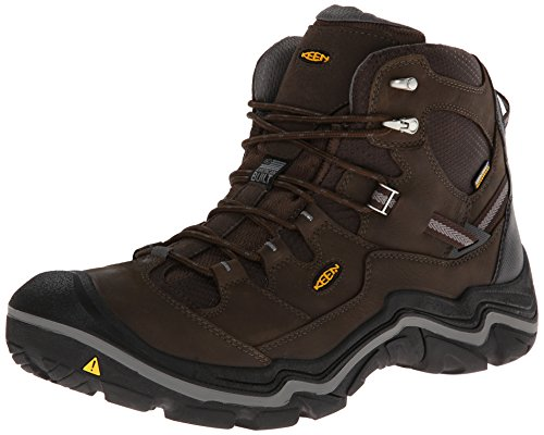 KEEN Men's Durand Mid WP Hiking Boot,Cascade Brown/Gargoyle,10 M US