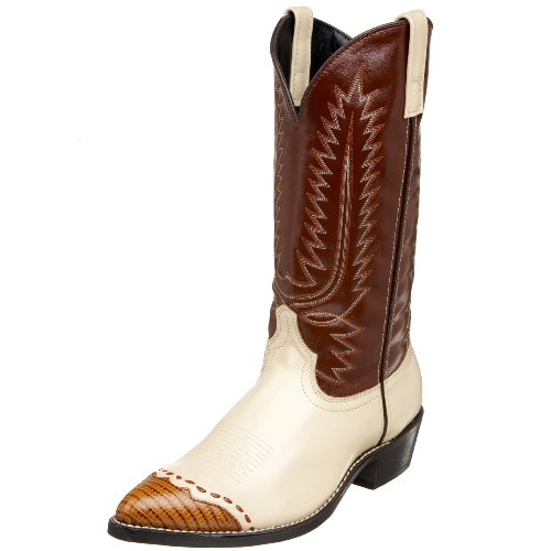 Laredo Men's 61161 Classic 13″ Wingtip Boot,Bone/Lizard Print,10.5 EW US