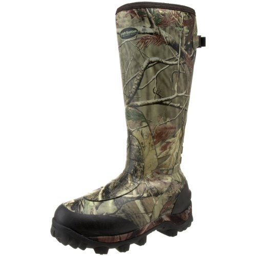 Irish Setter Men's RutMaster WP 800 Gram 17″ Rubber Boot,Realtree AP Camouflage,9.5 E US