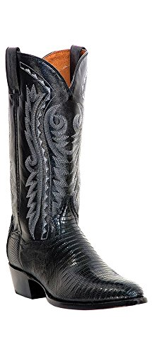 Dan Post Men's Teju Lizard Western Boot Medium Toe Black 10.5 EE US
