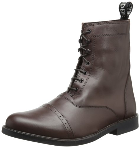 TuffRider Men's Barouque Lace Up Laced Paddock Boots, Mocha, 9