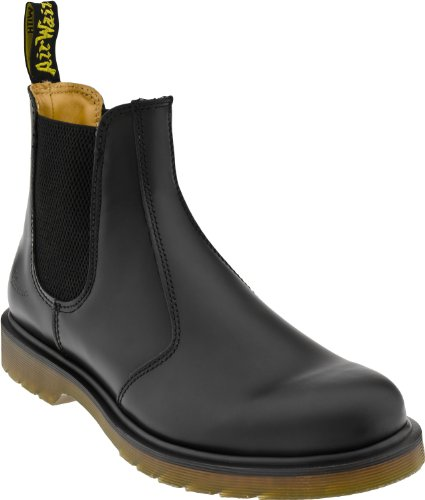 Dr. Martens 2976 Chelsea Boot,Black Smooth,8 UK (Women's 10 M US/Men's 9 M US)