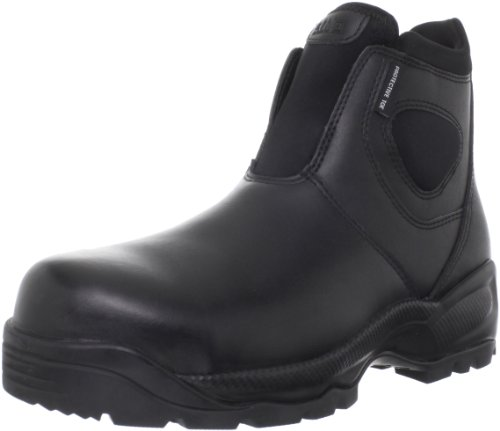 5.11 Men's Company 2.0 6″ Slip-On Certified Safety Toe Boot,Black,10.5 2E US