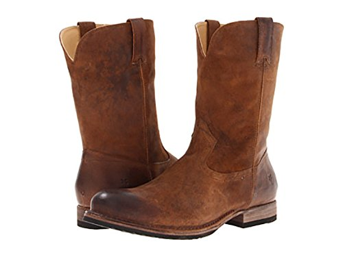 FRYE Men's Jake Roper Boot Tan Pressed Nubuck 13 M US