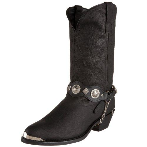 Dingo Men's Concho Strap 12″ Boot,Black,14 XW US