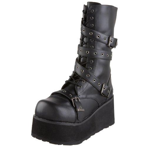 Demonia by Pleaser Men's Trashville-205 Buckle Boot,Black PU,6 M US