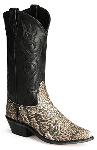 Old West Men's Snake Printed Cowboy Boot Natural 11 D(M) US