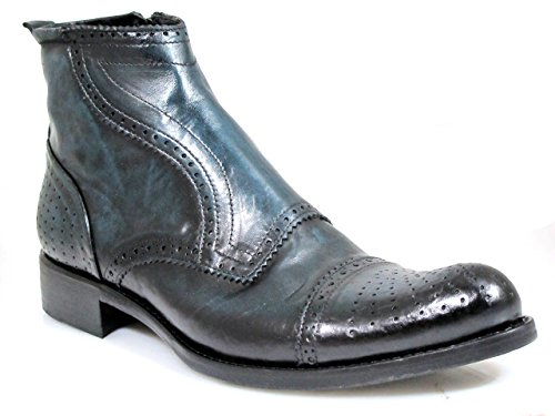 Jo Ghost 3169 Italian Lizard Ankle Boot, Colorado T. Indaco, Size 46