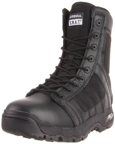 Original S.W.A.T. Men's Metro Air 9 Inch Side Zip Tactical Boot, Black, 7 D US