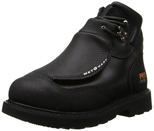 Timberland PRO Men's 40000 Met Guard 6′ Steel Toe Boot,Black/Black,12 W
