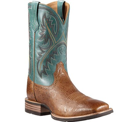 Ariat Men's Smooth Quill Ostrich Quickdraw Cowboy Boot Square Toe Tan 12 D(M) US
