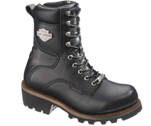 Harley-Davidson Men's Tyson Logger Boot,Black,8.5 M US