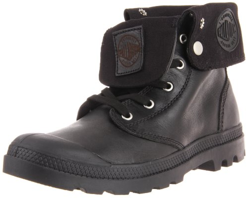 Palladium Men's Baggy Leather Boot,Black,7 M US