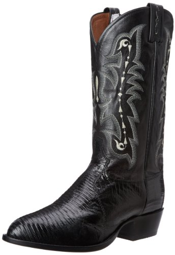 Tony Lama Boots Men's Lizard CZ810 Western Boot,Black,10 D US
