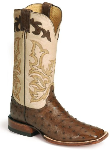 Justin Men's Remuda Ostrich Western Boot Antique Bn 13 D(M) US